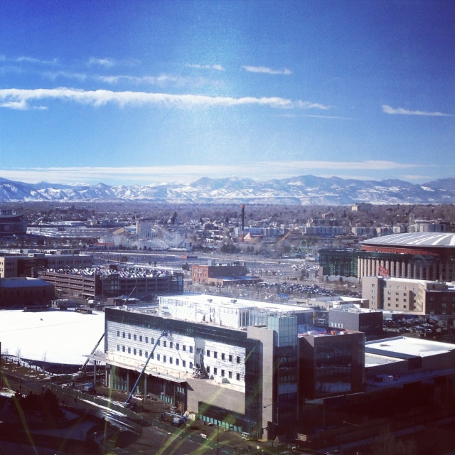 View of Denver and the mountains from CU Denver!  Gorgeous!