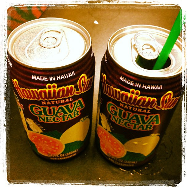 This was my present to myself upon departing Hawai'i... I do love myself some guava nectar!