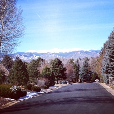 The views while running this weekend through my neighborhood.
