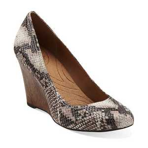 Um, hello snake print wood heel wedges! LOVE them and so versatile!