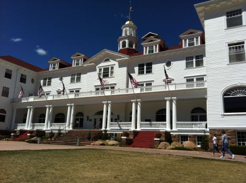 The beautiful Stanley Hotel!  Too bad the movie version was filmed in Canada...