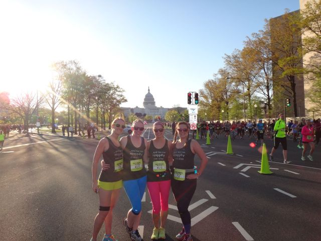 Our first race all together!  Thank goodness for these ladies!