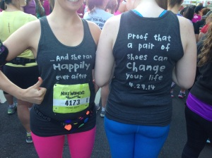 The shirts were pretty genius.  And completely us!