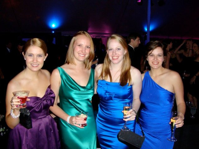 We are always classy and colorful - whether running or schmoozing.