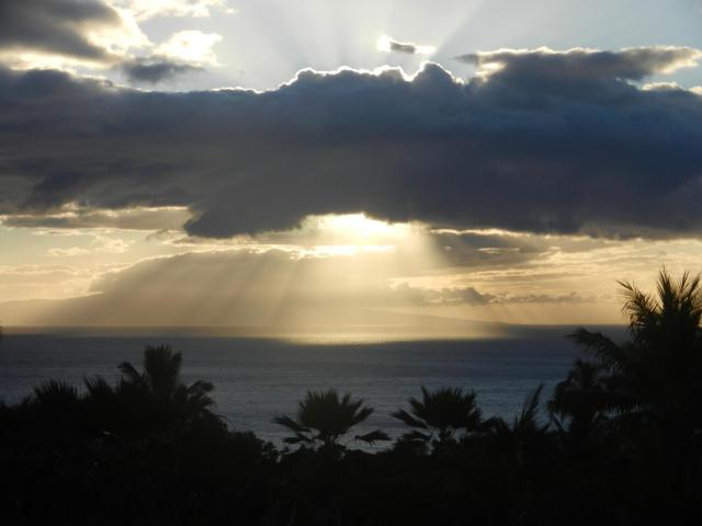 It really is this stunning all the time!  View from Wailea on Maui.