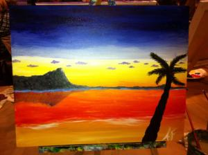 Yup, I painted that with Ms. BakeNBurn! Aren't I talented? It's easy when someone tells you exactly how to do it...