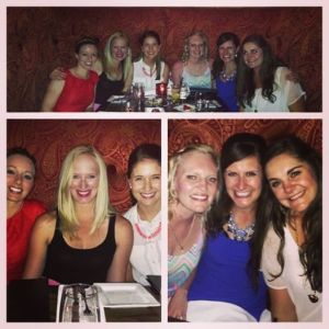 Fabulously girly dinner for Danielle's birthday!