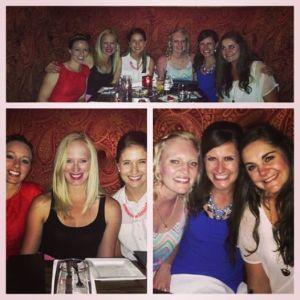 Fabulously girly dinner for Danielle's birthday!