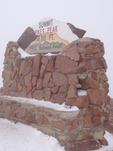 The top of Pike's Peak!