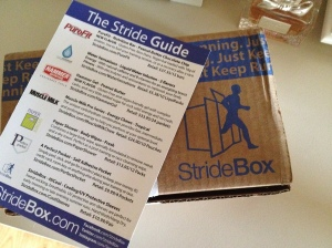 Loving my monthly delivery of StrideBox goodies!