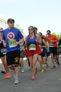 Last year's Patriotic BolderBoulder, this outfit has since come in handy.