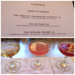 Best pre-birthday dinner drinks ever.  I will be trying these at home.