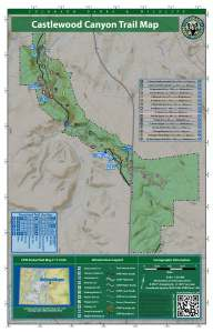 This is the map of Castlewood Canyon State Park - beautiful views of Pike's Peak!