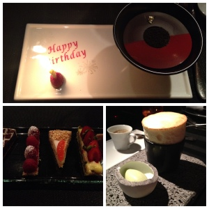 Three desserts, not just one!  All amazing, especially the Green Chartreuse Souffle!