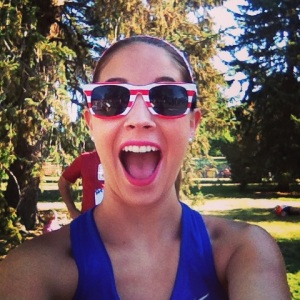 Can you tell I was excited? It is my go to pre-race face!