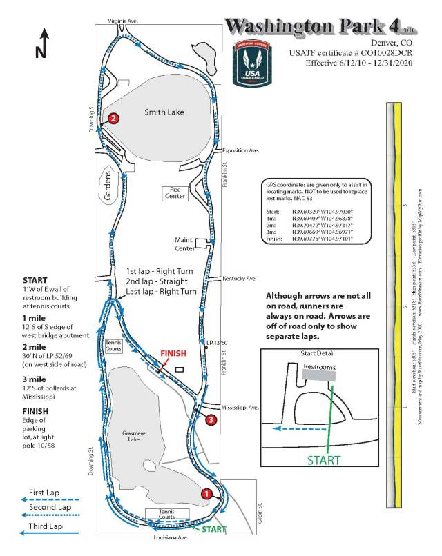 The course was easy to navigate, well marked, and fairly level - great for race day!