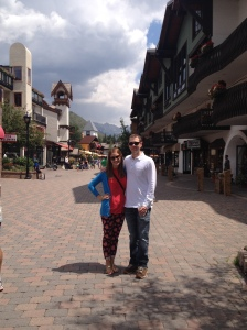 Great day with friends and the hubby in my favorite mountain village!