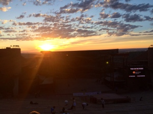 Watching the sunrise over Red Rocks - so surreal!