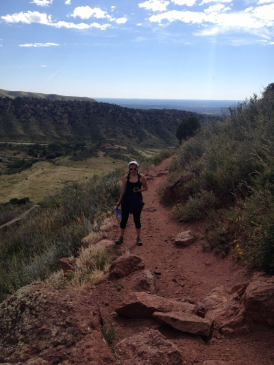 Hiking up the Red Rocks trail.