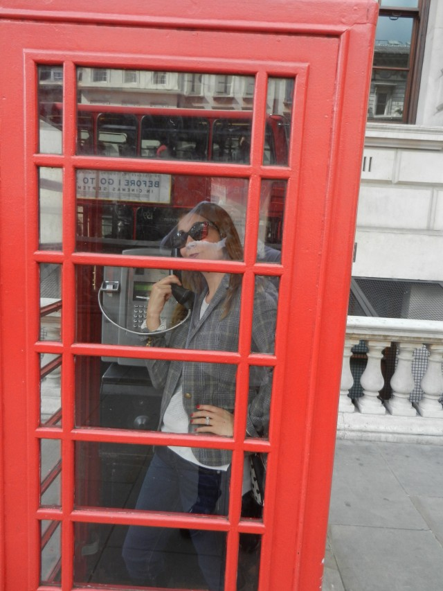 Necessary photo op in a red telephone booth!