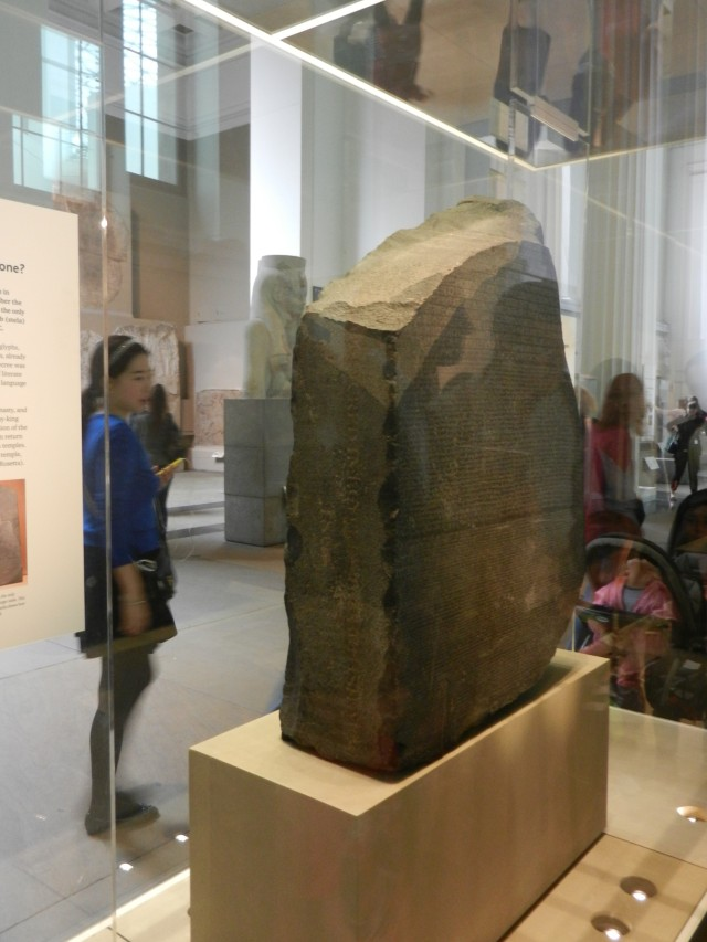 The incredible Rosetta Stone.