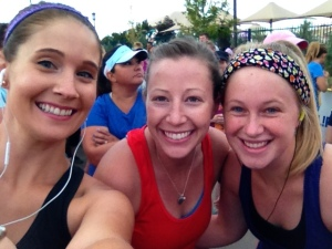 Myself, Christie and Karen before the race began!