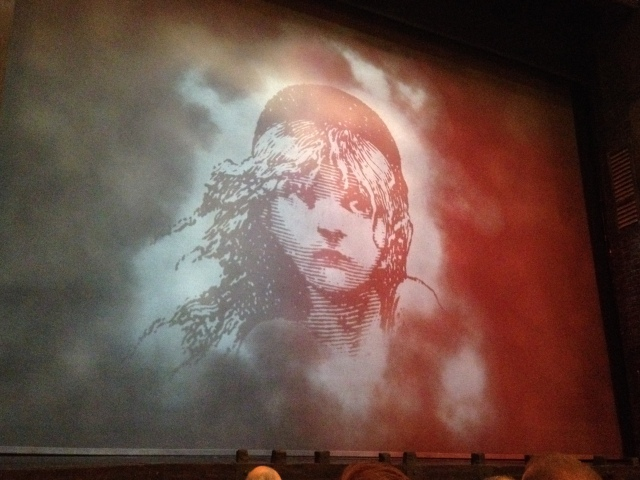 The hubby's first live performance of Les Mis!