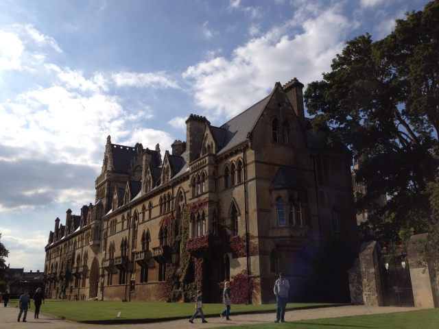 The back building of Christ Church College.  What a place to go to school.