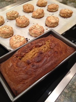 I may have also made pumpkin bread... I got fall baking happy!