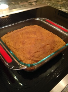 My other Sally's creation of the night!  Lightened-up Pumpkin Bars!