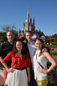 Our adorable group and the obligatory castle shot!