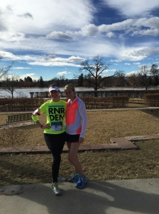 Krisitn (aka the running machine!) and I post-race on a perfect day!