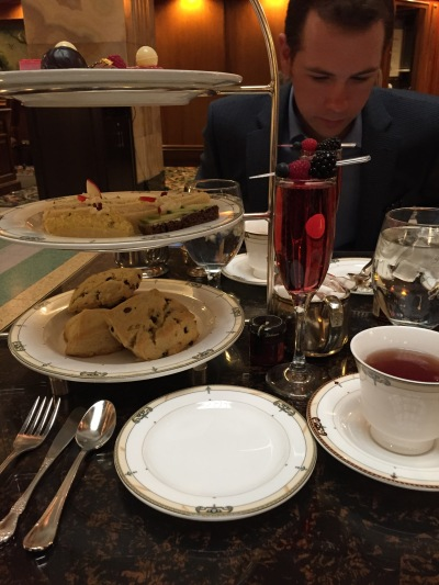 Gorgeous tea at the Brown Palace and my favorite date.
