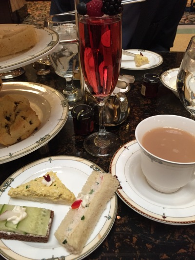 That is a good spread, complete with Kir Royal.