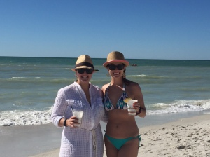 Key lime coladas, besties, and a beach. Too good to be true!