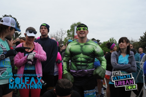 So focused at the starting line up - Gary (aka the Hulk) was ready to go!!