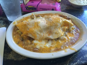 Green chili smothered burrito... mmmmmm....