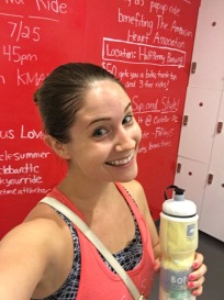 Sweating it out, CycleBar style.